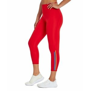 Bally Total Fitness Mid-Calf Capri Legging Red L